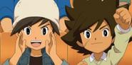 Yuuta y Shun animando