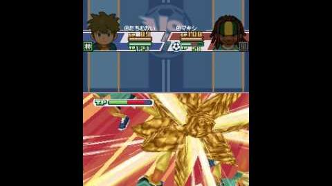 Inazuma eleven challenge to the world Gaia break VS Maou the hand G2