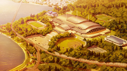 Centro de deportes Inazuma Japon Ares (Noche)