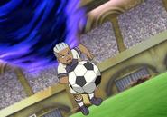 Gomi Seiei usando su Espíritu Guerrero