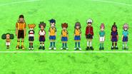 Los 11 miembros de SIJ con los uniformes de sus escuelas