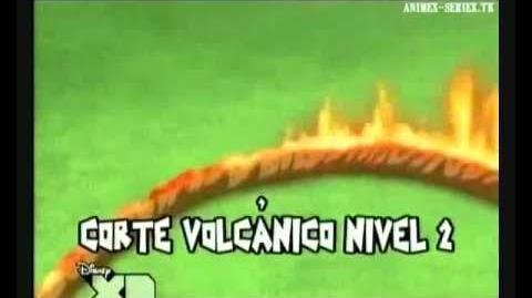 Inazuma Eleven - Corte Volcánico Nivel 2 (ボルケトーカットV2)