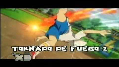 Inazuma Eleven - Tornado de Fuego 2 VS Evolución Mano Celestial