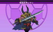 Modelo de Bravo Samurai Musashi (3DS-VJ)