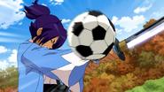 Okita being hit by Tsurugi's shoot CS27HQ