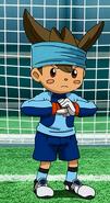 JP con el uniforme de Earth Eleven (Anime-PR)