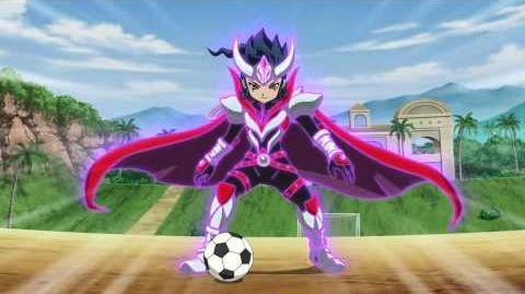 Inazuma Eleven GO Chrono Stone (Tsurugi Keshin Armed VS Keeper Command 03 ) HD