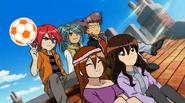 Hiroto,Himeko,Kirie,Kazemaru y Tobikata