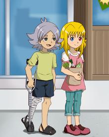 Ahiru acompañando a Fubuki