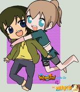 Isamu y Kaoru chibis by Luka and Miku