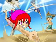 Runa y Shinsuke vs Tsurugi