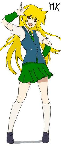 Meiko con el uniforme del mery times