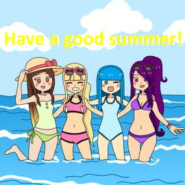 April, celine, celeste y dayann good summer