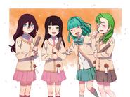 Mina, Hye, Celeste y graduación