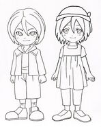 Hiroto y Himeko blanco y negro bu Luka forever