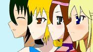 Akuma,Meiko,Himeko y Rin