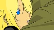 Isamu y Aika abrazo