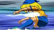 Yuuki siendo golpeada