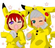 Ichino y Runa pikachu by Luka forever