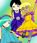 Sari-chan,Kyoka-sempai y Haruka-san
