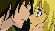 Isamu and Aika kiss