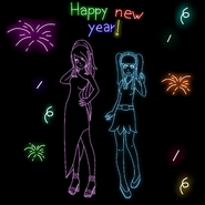 Dayann y celeste new year neon