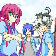 Makoto,Sora y Yusei