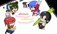 Runa,Aiko,Yoko,Sora y Taro chibi