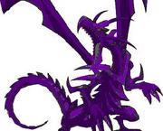 Dragón platino oscuro