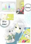 Fubuki, Ahiru y Raynard de pequeño