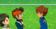 Tenma with Young Endou