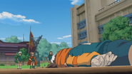 Endou is fell down