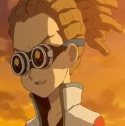 Kidou while he is talking with Haruna