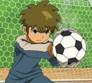 Tachimukai Yuuki after catching the ball