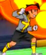 Endou's movments in Great the Hand