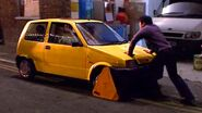Simon's car gets clamped