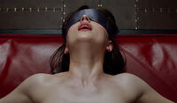 Ana Steele blindfold