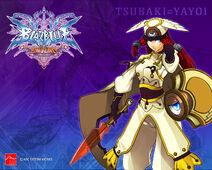 BlazBlue wallpaper - Tsubaki Yayoi (by Arc System Works)