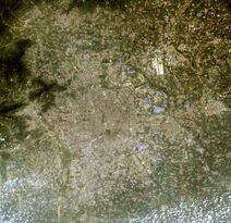Beijing satellite image, LandSat-5, 2010-08-08