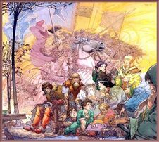 672px-Michael Kaluta - Elrond Recalls the Host of Gilgalad