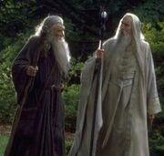Saruman and Gandalf