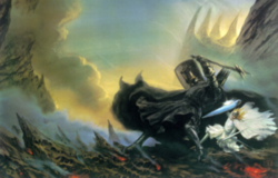 300px-John Howe - Morgoth vs Fingolfin