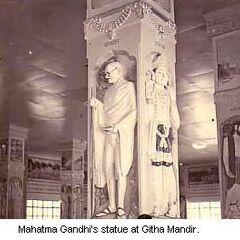 Mahatma Gandhi statue at Githa Mandir/Porbandar