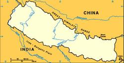 Nepal-map-blank