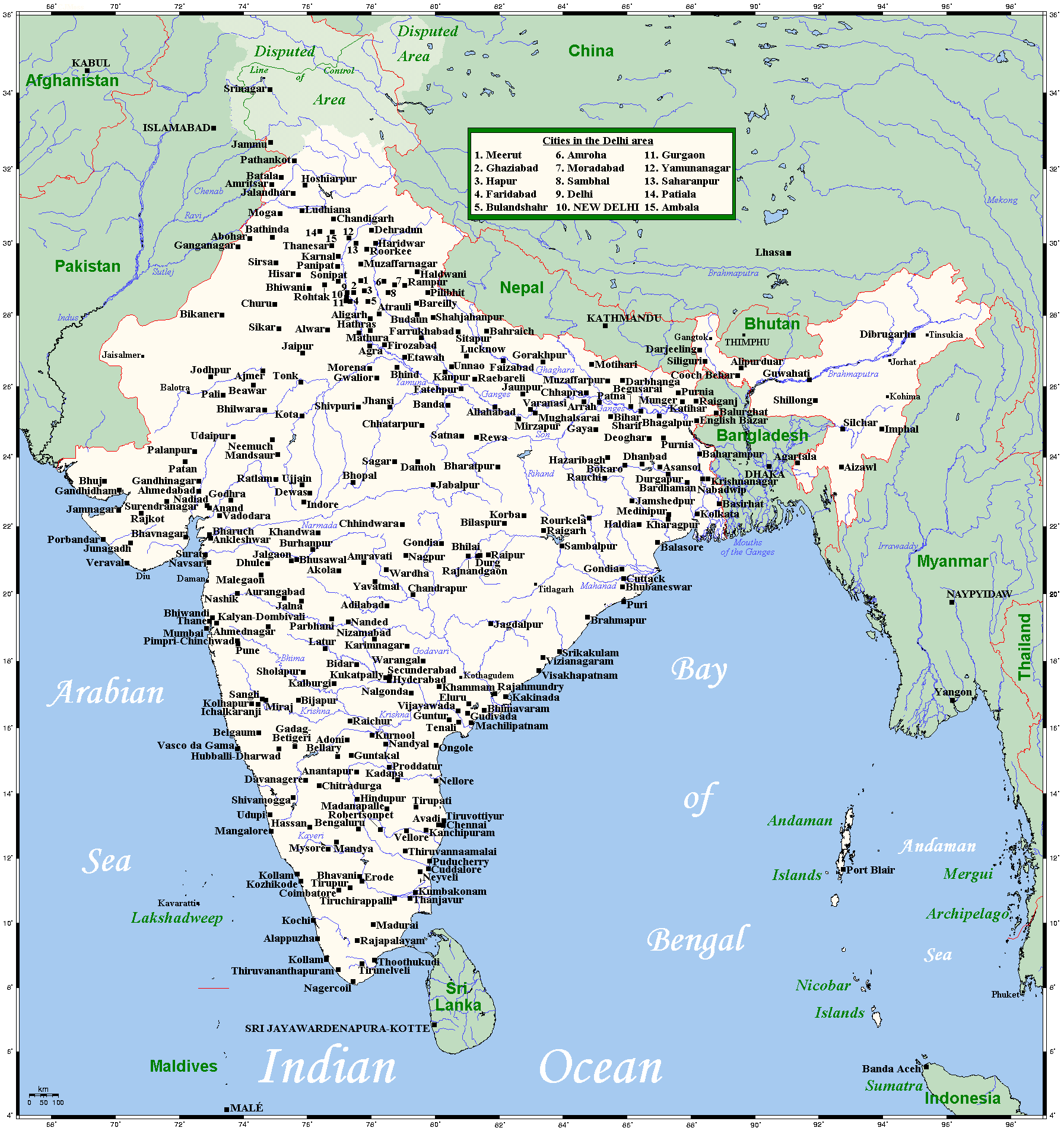 Cities of India: a list of the largest 33