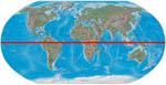 World map with equator