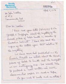 PG 1 lincoln herald letter