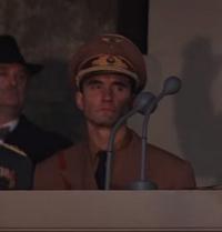 German Officer at Hitler Rally