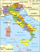 Włochy - mapa administracyjna