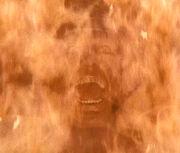 Belloq on fire